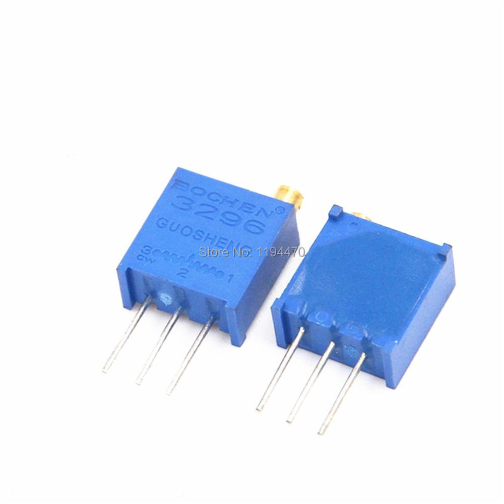 multi-turn precision adjustable resistors 20K 50pcs 3296W potentiometer 203