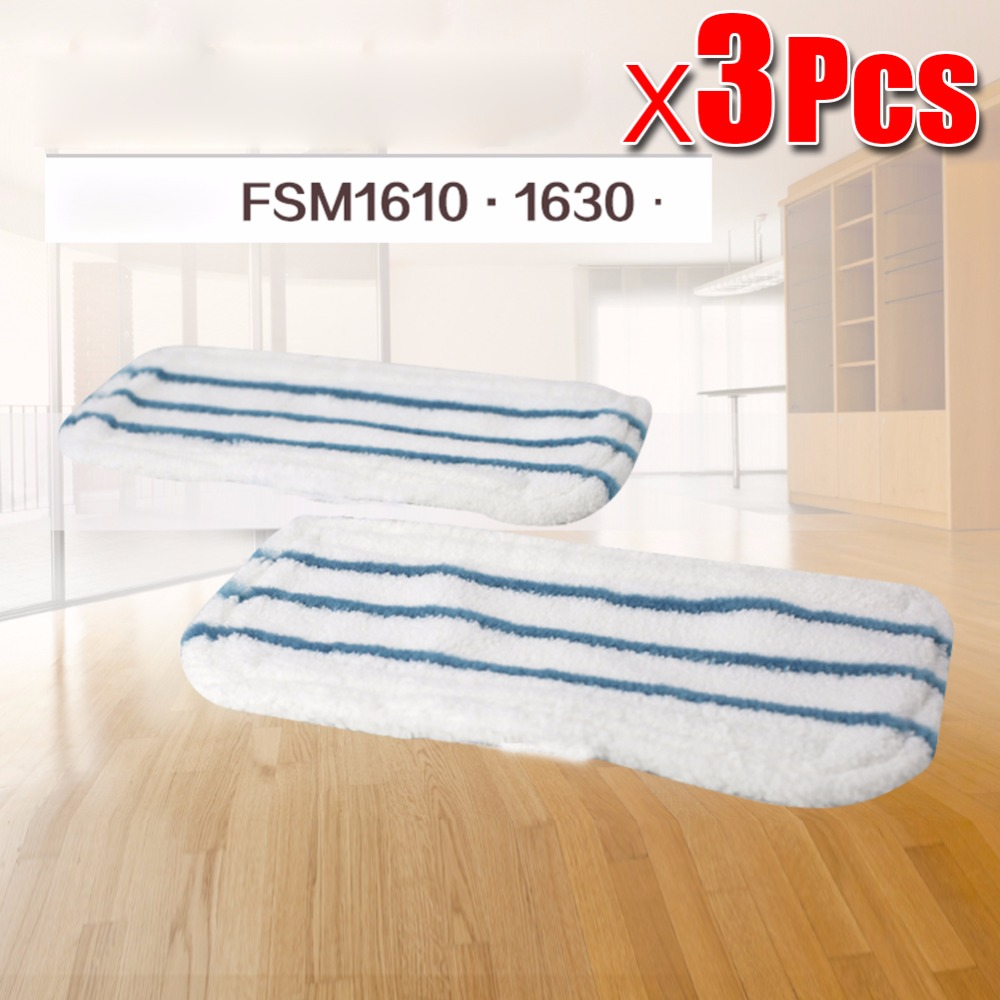 3pcs/lot Steam Mop Replacement Pad Mop Clean Washable Cloth Microfiber WASHABLE Mop Cloth cover For Black&Decker FSM1610/1630 steam mop replacement pad for h2o x5 model mop clean washable cloth microfiber steam mop cloth cover head in mop reusable cloth