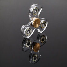 Transparent Crystal Fidget Spinner EDC Hand Spinner Plastic Top Spin Spinning Finger Spinner Custom Bearing Widget Fidget Toys