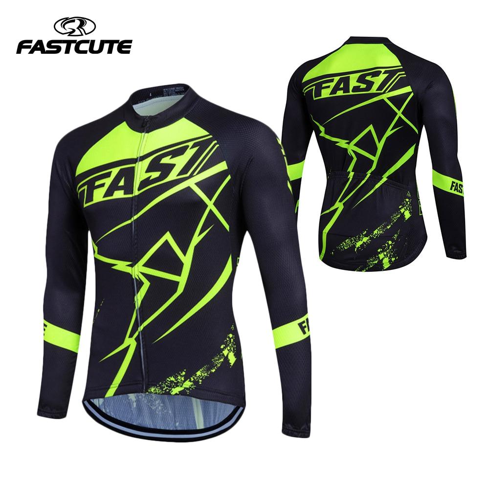 FASTCUTE 2017 С Длинным Рукавом Pro Cycling Трикотажные Мужчины Mtb Clothing Велосипед Майо Equipacion Ciclismo Спортивная Одежда Велосипед Одежда 00785