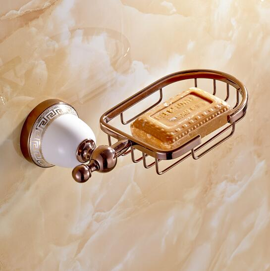 Morden Rose golden brass Soap basket /soap dish/soap holder /bathroom accessories,bathroom furniture toilet vanity accessories