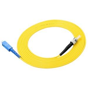 Image 4 - 10 pcs Simplex SC/UPC ST/UPC In Fibra Ottica patch Cord Cavo di ponticello modalità Singola PVC cavo di 3 Metri sc st connettore