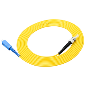 Image 4 - 10 pcs Simplex SC/UPC ST/UPC Optical Fiber patch Cord jumper kabel Single mode PVC kabel 3 Meter sc st connector
