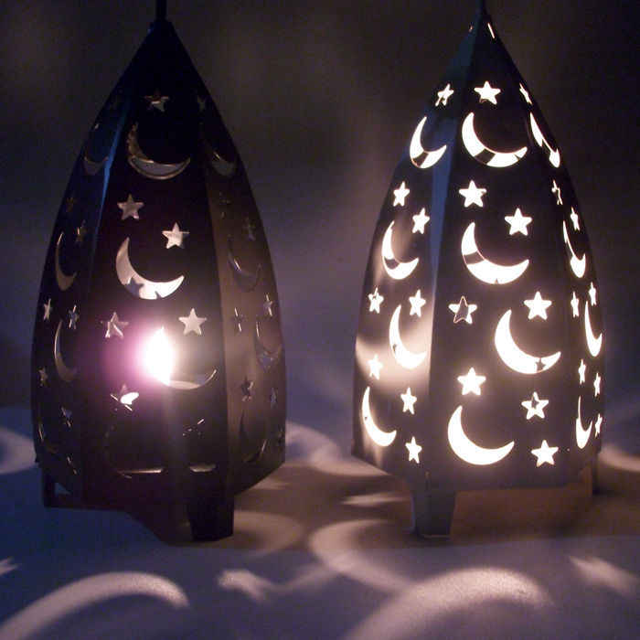 Metal Hollow Candlestick Candle Lantern Tea Lamp Holder Moroccan Candlestick Hanging Lamp Wedding Decoration