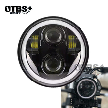 5-3/4 5.75 inch Motorcycle Moto LED Projector Full Halo Headlight For