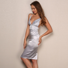 Satin Summer Party Dress