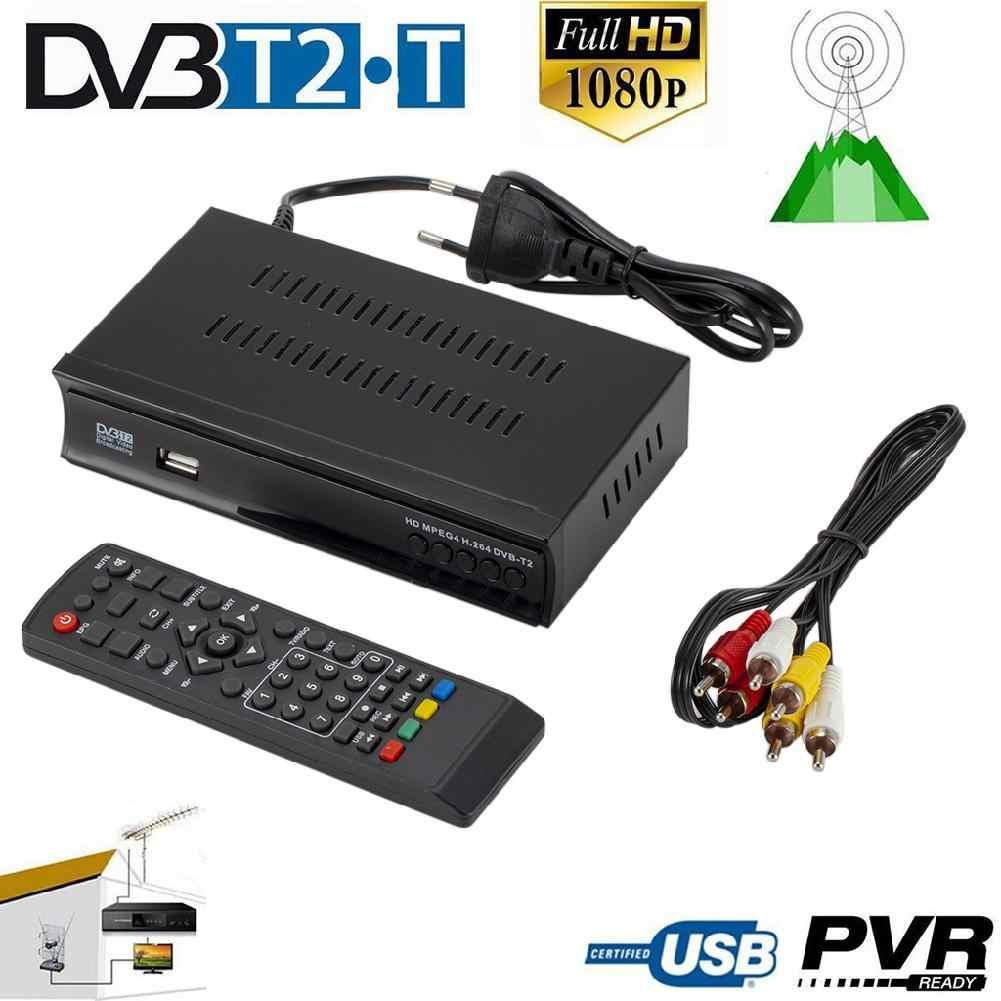 BEESCLOVER DVB-T2 Terrestrial Receiver Receptor de TV Tuner DVB S/S2 Digital caixa de TV Receptor de Satélite de Apoio Dobly H.265 AC3 r25