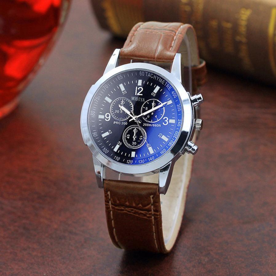 Sport Fashion Wristwatch Men's Casual Christmas Gift Quartz Leather Band Watch Classics Brand luxury Analog WristWatch 2018 &Ff