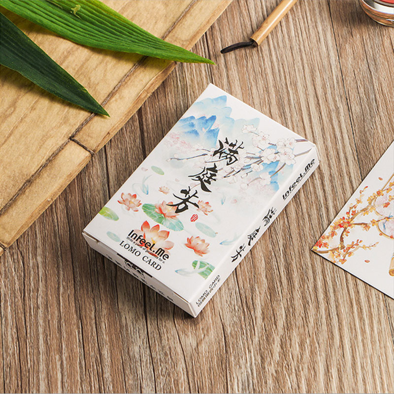 28 Pcs/lot Creative Cute Scenery Card Postcard Birthday Greeting Card Letter Envelope Gift Card Set Message Card