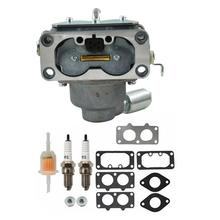 Carburetor Kit For Briggs&Stratton 20HP 21HP 23HP 24HP 25HP Intek V-Twin Engine Carb Back Fire Solenoid Park Plug Fuel Filte