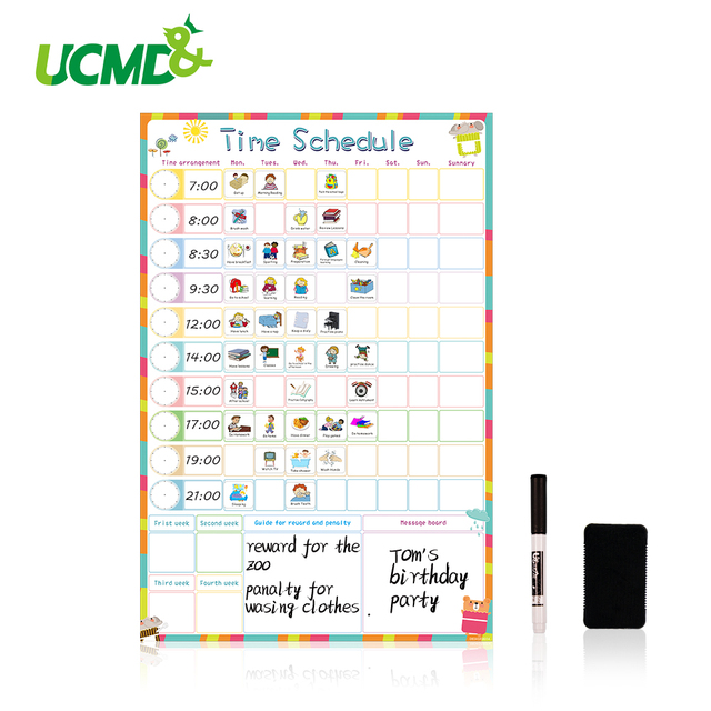 magnetic dry erase weekly schedule calendar daily planner drawing