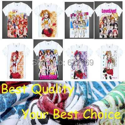 Japanese Love Live! School Idol Project anime sports t-shirt Honoka Kosaka shirt Cosplay christmas halloween Costumes clothing