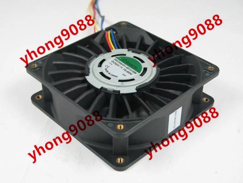 цена Free Shipping For SUNON SGC0384B1-Q01U-S99 DC 60V 70.80W 4-wire 4-pin connector 120x120x38mm Server Square Cooling Fan онлайн в 2017 году