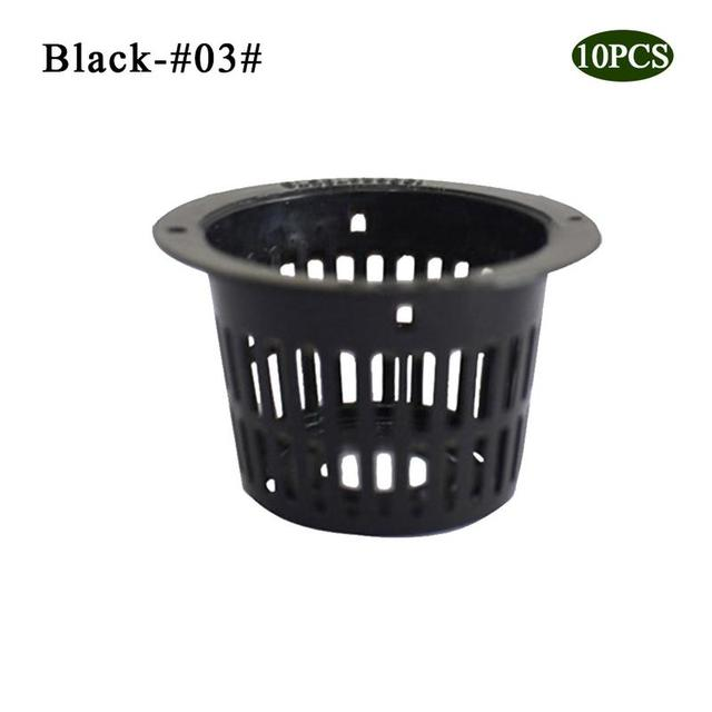 Pot Net Cup Basket Hydroponic System Garden Plant Grow Vegetable BL