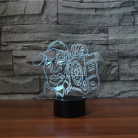 3D LED Music Man Moulding Table Lamp Kids Night Light 7 Colors Visual Atmosphere Sleep Lighting