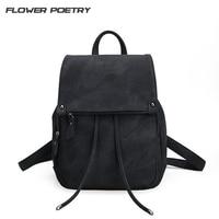 2017 Rotro Backpack Women PU Leather Bag Teens Schoolbag Small Women Backpacks Mochila Feminina School Bags