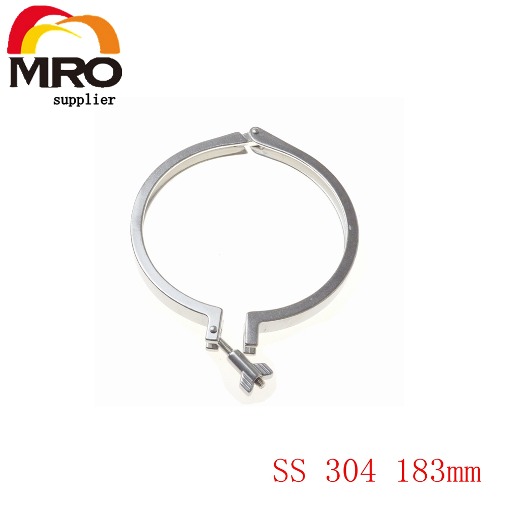 Tri Clamp Clover Sanitary Fits 183mm OD Ferrule Flange Stainless Steel SS 304 Heavy Duty Type SS022 tri clamp clover for od ferrule stainless steel ss sus 304