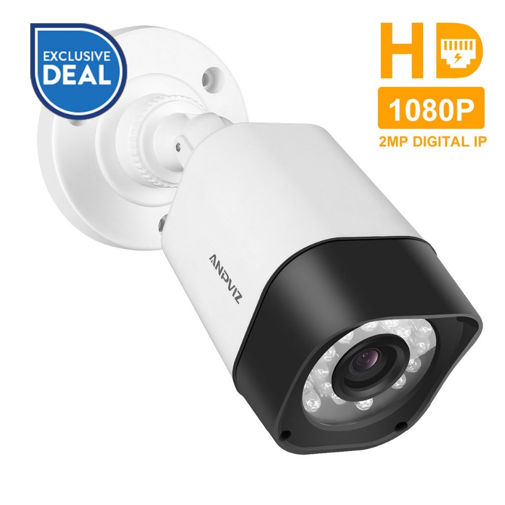 Anpviz H.265 1080P Bullet IP Camera PoE 2MP HD Outdoor Waterproof Security Video Surveillance Camera Onvif CCTV 30m IR Distance цена