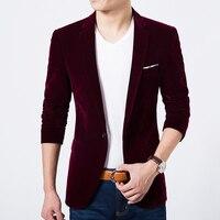 Men blazer Fashion men jacket korean Style velvet Male blazer Brand casual mens jackets and coats windbreaker Men Clothes 2018
