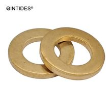 QINTIDES M2 - M20 Grade A plain washers brass Boat Red Brass Copper Crush Sealing Washer Flat Seal Gasket Ring M3 M4 M5 M6