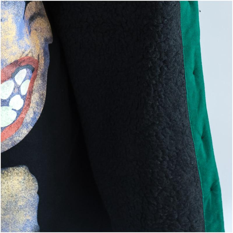 2018 Vert Grand Coton Épaississement Hiver Mode black Femelle Hoodies Manteau Chaud Plus Femmes H906 De Green Parka Lâche Taille La Old Survêtement Nouveau nqTZ6Zp0