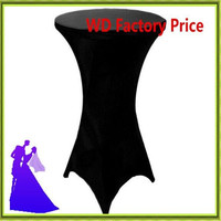 Black And White Blue Spandex Cocktail Table Cloth Wedding For Sale Free Shipping