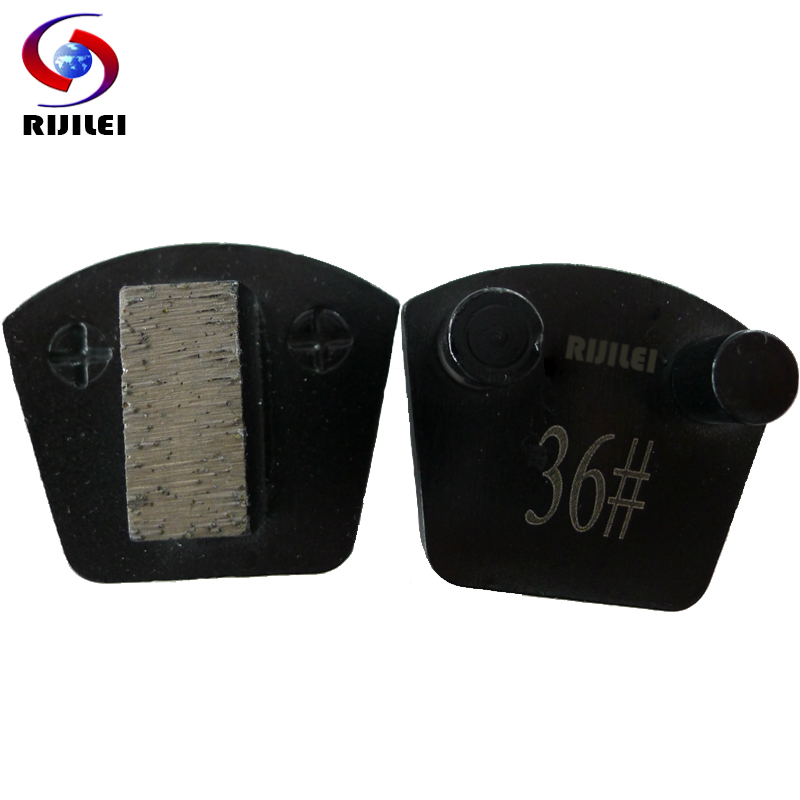 RIJILEI 24*11*10mm*1T Metal bond Diamond Concrete Grinding disc Scraper cutting blade for concrete strong magnetic plate P30