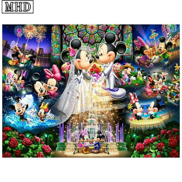 Full Round Square 5d Diy Diamond Painting Mickey Mouse 3d Diamond