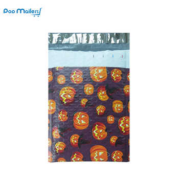 25pcs/175*228mm/6x9inch Usable space Halloween pumpkin lantern Poly bubble Mailer envelopes padded Mailing Bag Self Sealing