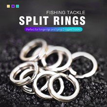 50pcs/100pcs Stainless Steel Fishing Split Rings Lure Solid Ring Loop For Blank Crank Bait Connectors Tackle Tool Kit