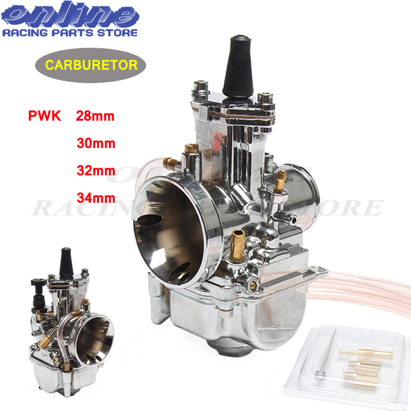 Silver 28mm 30mm 32mm 34mm Motorcycle Accessories Carburetor Brand New PWK KOSO Carburetor With Power Jet