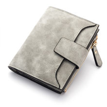 Fashion Small Female Purse short purse Lady Letter Snap Fastener Zipper Short Clutch Wallet Solid Vintage Matte Women Wallet(China)