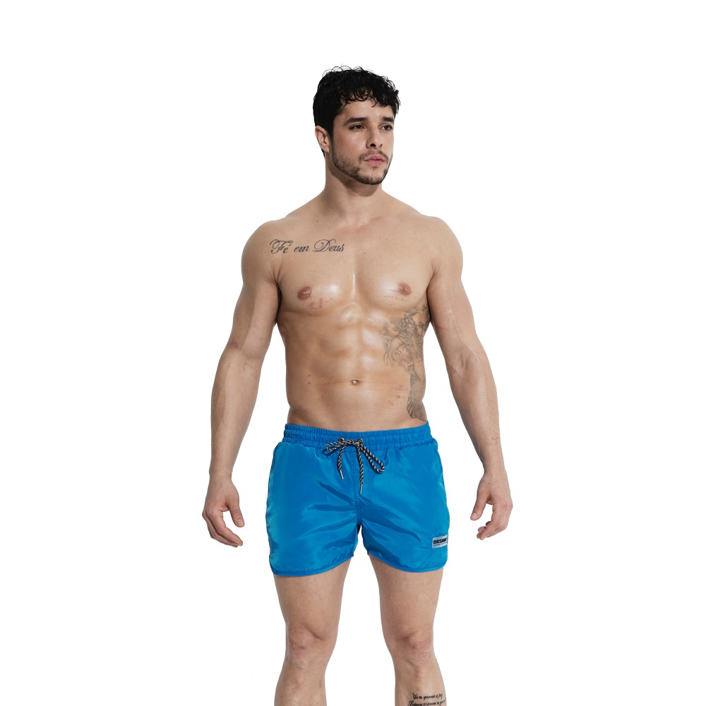 Men's Solid   Board     shorts   Gay fluorescence GYM Fitness Surfing   shorts