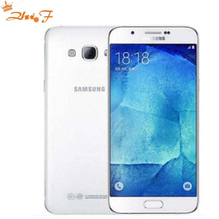 """Новый разблокирована samsung Galaxy A8 A8000 мобильный телефон 5,7 """"Восьмиядерный 16.0MP Камера Android 5,1 2 ГБ Оперативная память 16 ГБ Встроенная память теле…"""