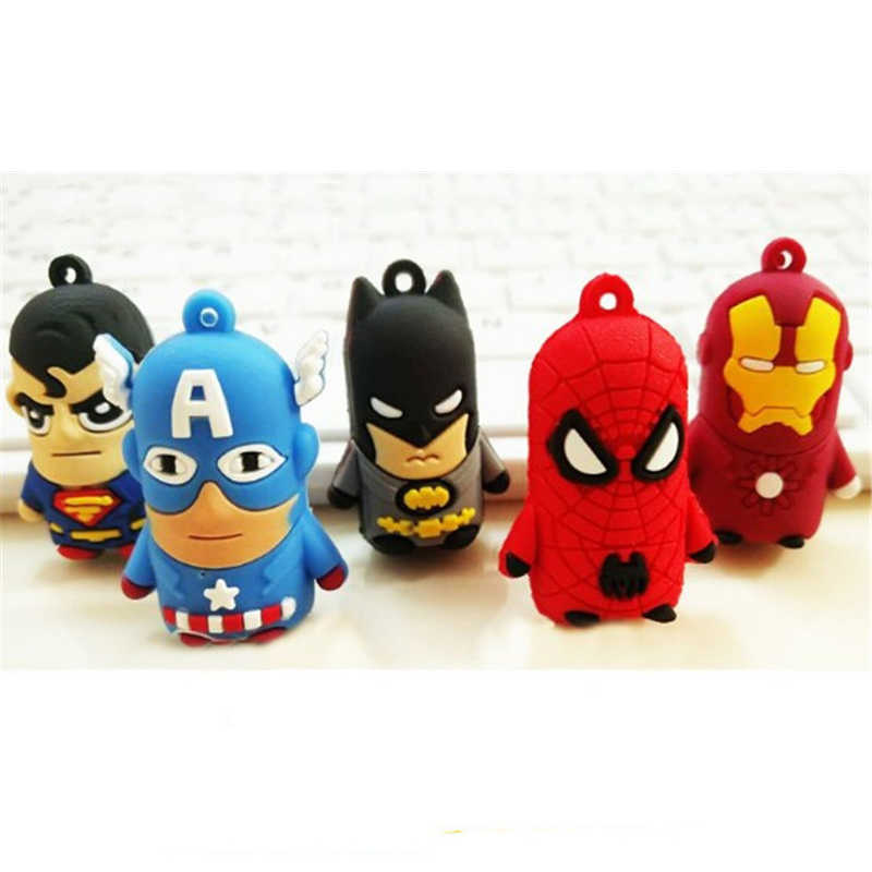 Marvel Anime Mainan Angka Gantungan Kunci Superman Spiderman Batman Iron Man Captain America Mobil Gantungan Kunci Cincin Mainan