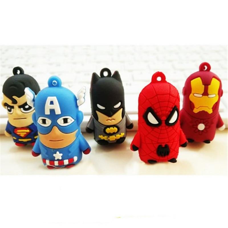 Marvel Anime Toys Figures Key Chain Superman Spiderman Batman Iron Man Captain America Car Keychain Ring Toys