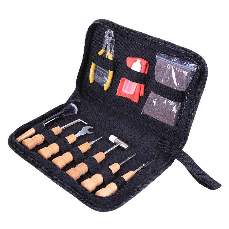 Kit d'outils de changement de chaîne de débogage de guitare pince à cisailler d'entretien accessoires de polissage ensemble outil de réparation