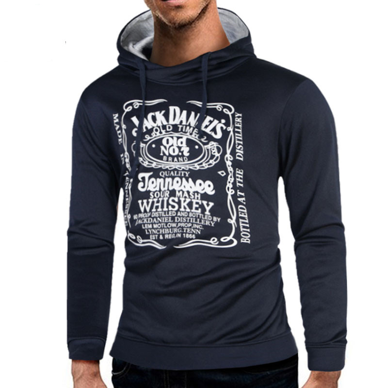 2018 Sweatshirts Tracksuit Men Fashion Hip Hop Hoodies Pullover Sweat Shirt Black Tide Print Men Women Moleton Puls Size 2XL YI