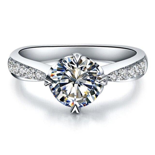 38 24 50 De Reduction 0 6 Carat Amour Impression Bague De Mariage Sona Mariage Diamant Bague De Fiancailles Pour Les Femmes Micro Pave Bijoux En
