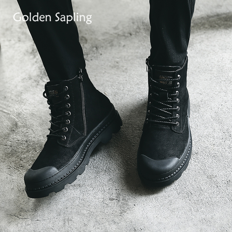 Golden Sapling Man Sneakers Classics Men Skateboarding Shoes Black Genuine Leather Rubber Skateboard Shoes Sport Mens SneakersGolden Sapling Man Sneakers Classics Men Skateboarding Shoes Black Genuine Leather Rubber Skateboard Shoes Sport Mens Sneakers