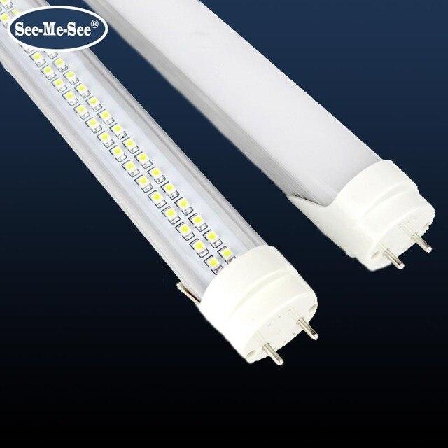 20 ชิ้น/ล็อต 2ft 10W 4ft 1200MM 20W 32W 288PCS ชิป LED/PCS AC85 265V คู่แถวชิป T8 หลอด LED
