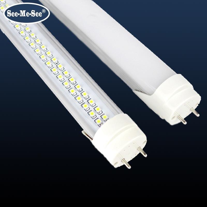 20PCS/Lot 2ft 10W 4ft 1200MM 20W 32W 288PCS led chips/pcs AC85 265V double row chip T8 led tube-in LED Bulbs & Tubes from Lights & Lighting