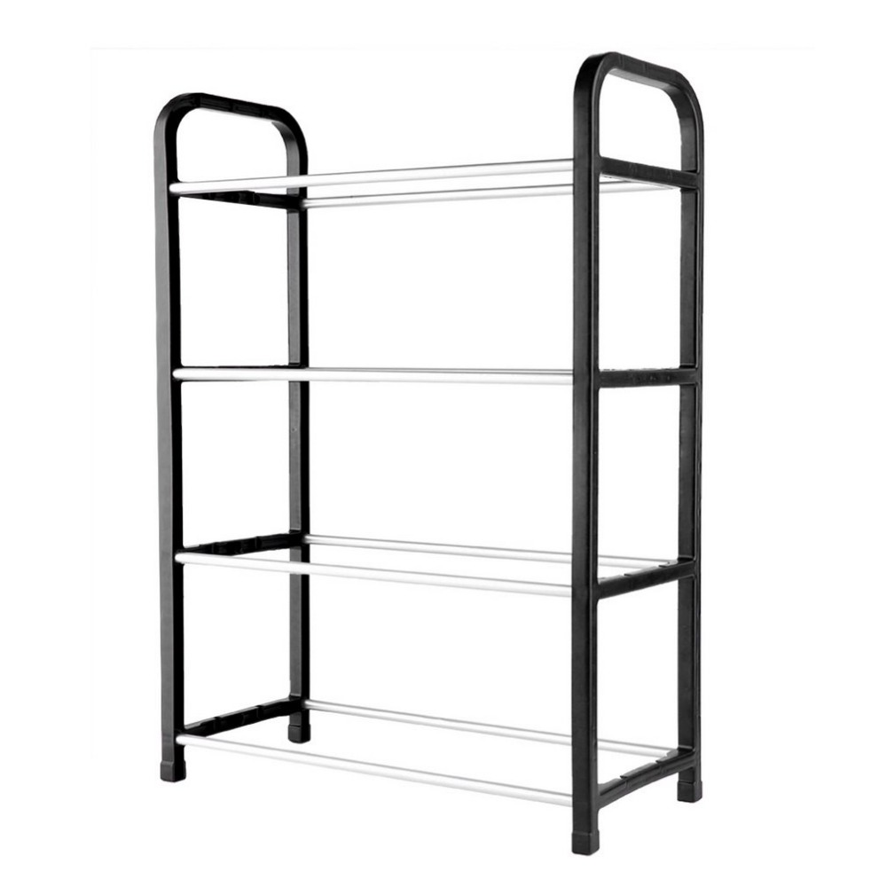 4 Tier Household Metal Shoes Cabinet Organizer Rack Simple Stand Sturdy Shelf Storage Holder Kitchen furniture Combined