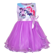 2019 New My Baby Summer Princess Little Pony Rainbow Dresses For Girls Halloween Birthday Party Vestidos Dress Children Clothing samgami baby new summer cute dress little girls dress my pony spring girl short sleeve dresses my girls princess for little pony