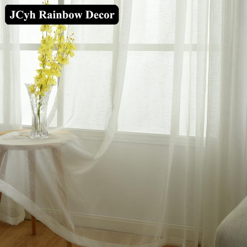 Plain Solid White Tulle perdele pentru camera de zi Bucătăria - Textile de uz casnic