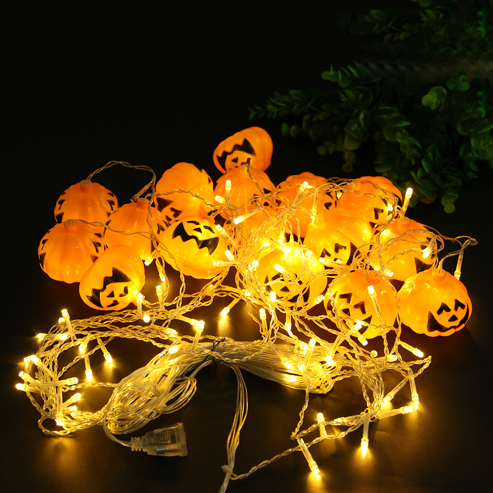 96 leds lampada led pumpkin fairy lights led curtain - Decorating with string lights indoors ...
