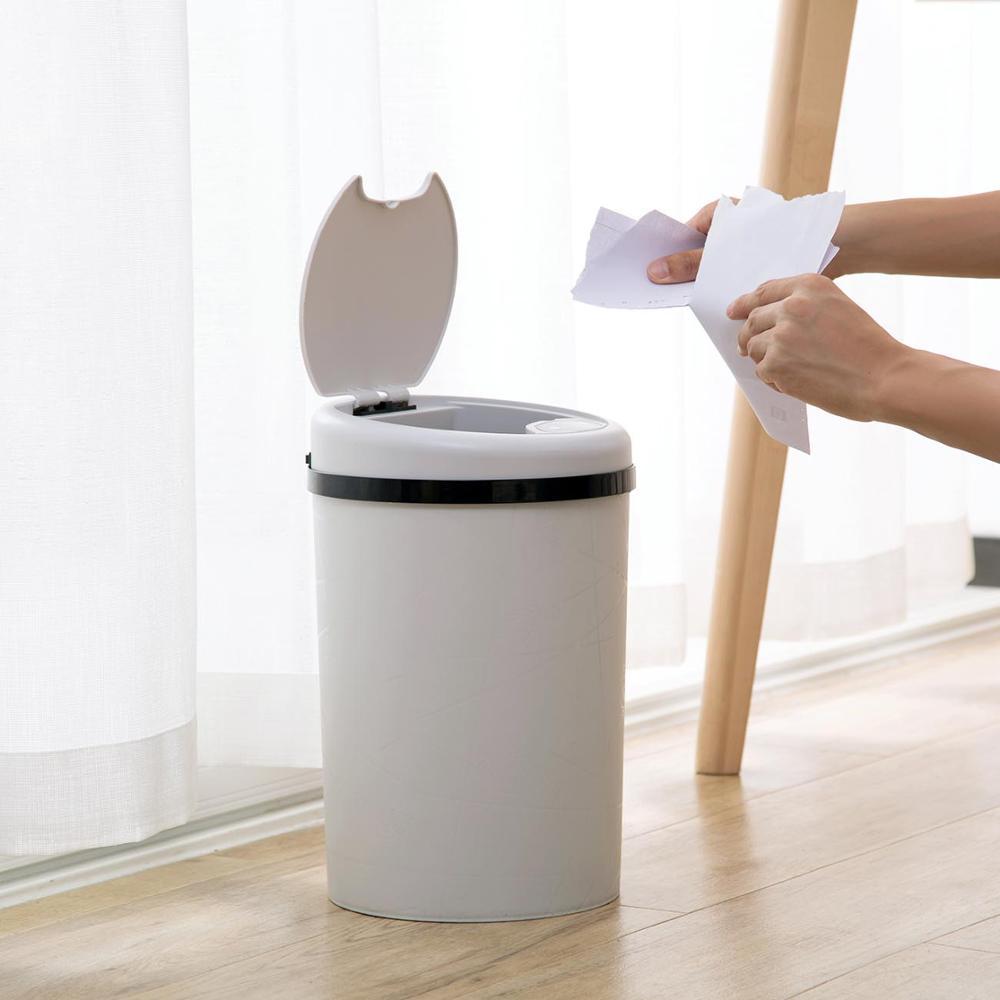 Image 3 - Large Automatic Sensor Dustbin Sensor Trash Can Induction Waste  Bin PP Plastic Eco friendly Dustbin Household Trash BinWaste Bins   -