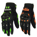 HOT 1 pair full finger motorcycle gloves breathable wearable green orange color luva motoqueiro guantes moto alpine motocross