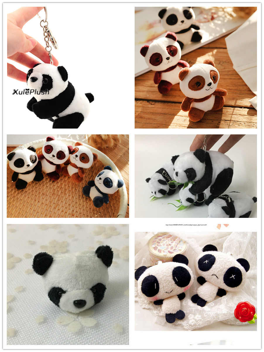 FULL ALL Pandas , Size 4-11CM Panda DOLL , Plush Stuffed Key chain TOY & Gift Pendant Plush Toys , Wedding Bouquet TOY DOLL