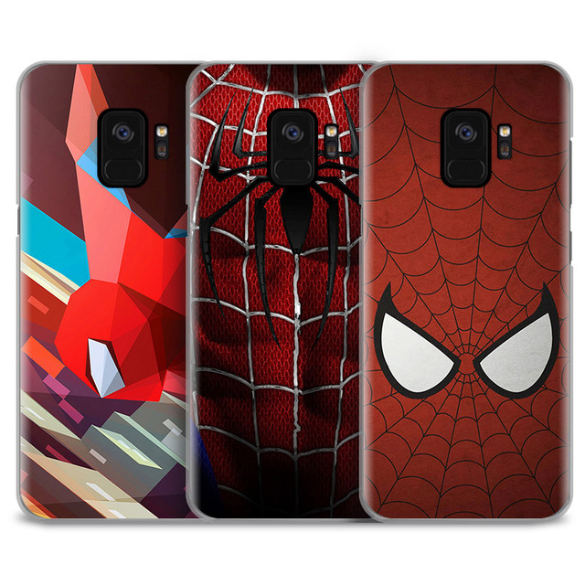 quality design d78ef 720d5 US $2.66 5% OFF|SuperHero Spider Man Comics Phone Case Cover Shell For  Samsung Galaxy S5 S6 S7 Edge S8 S9 Plus Note 8 4 5 A5 A7 J5 2016 J7 2017-in  ...